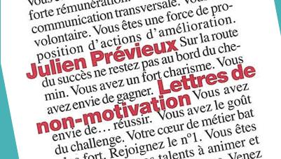 JULIEN PREVIEUX-LETTRES DE NON-MOTIVATION