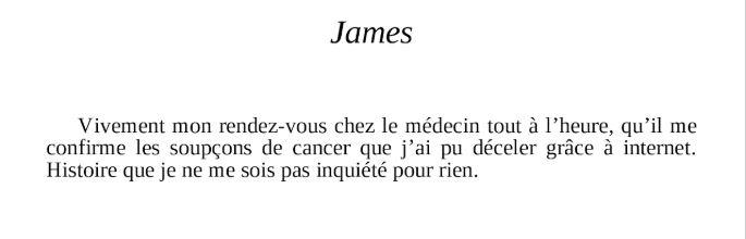 SINON J OUBLIE-JAMES