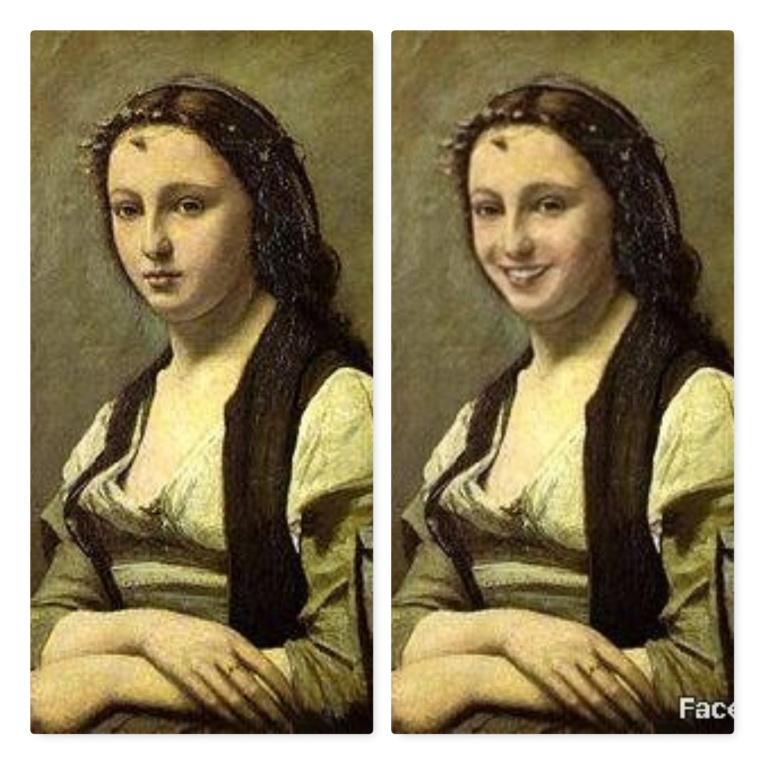 FaceApp-sourire-F-Femme à la perle-Corot