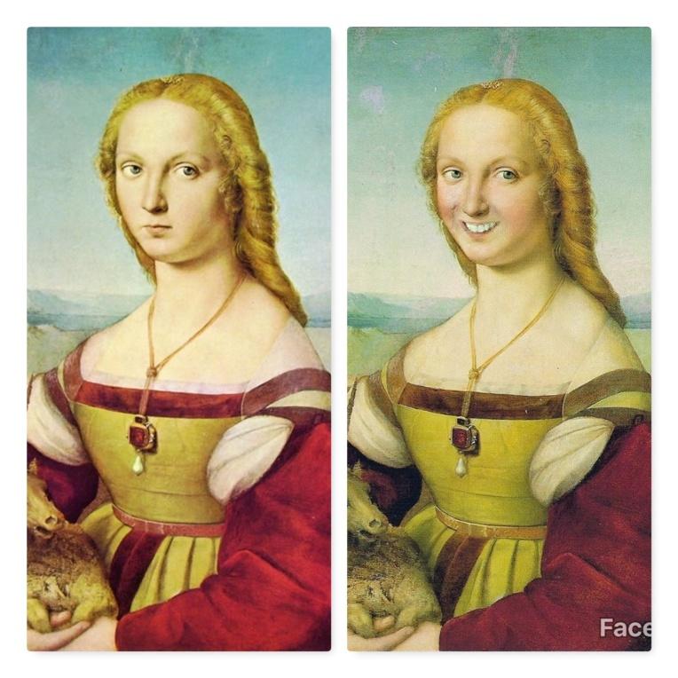 FaceApp-sourire-F-La Dame à la licorne-Raphaël