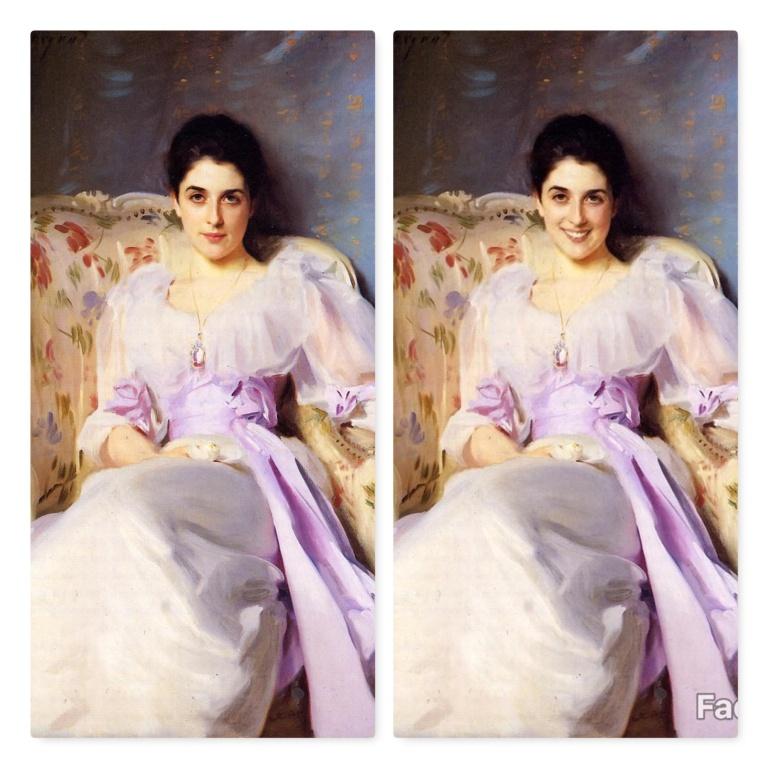 FaceApp-sourire-F-Lady Agnew de Lochnaw-John Singer Sargent