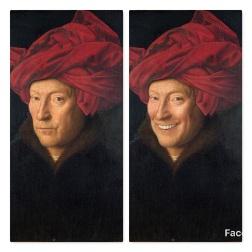FaceApp-sourire- H-l homme au turban rouge-Jan Van Eyck