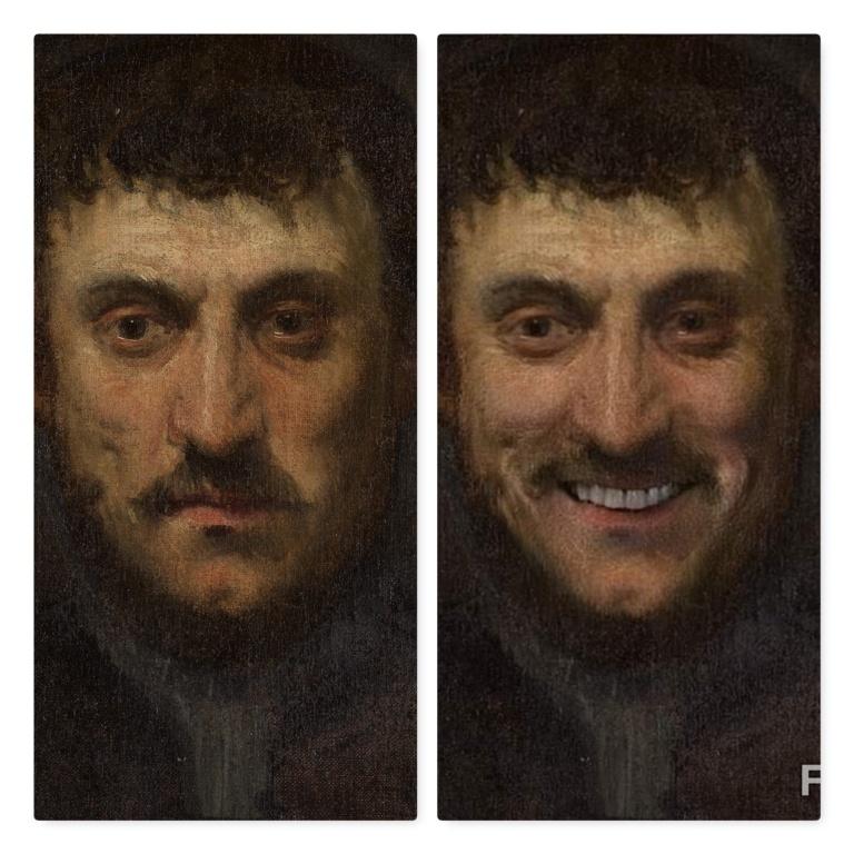 FaceApp-sourire-H-Portrait d un homme-Jacopo Tintoretto