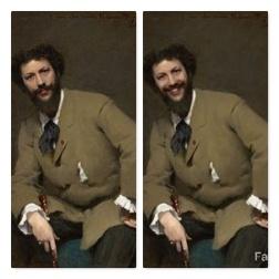 FaceApp-sourire-H-Portrait de Carolus-Duran-John Singer Sargent